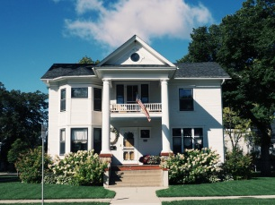 A staple of the gorgeous architecture in Valley City. The plantation home reminisces to a time once known.